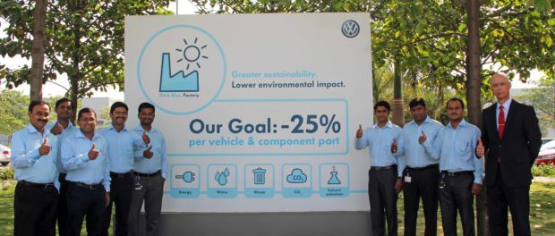 Volkswagen's 'Think Blue'  Turns Pune Plant Green